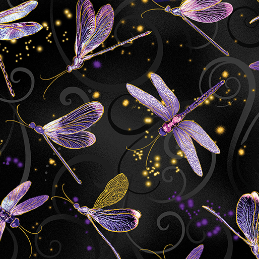 Dancing Dragonflies Black