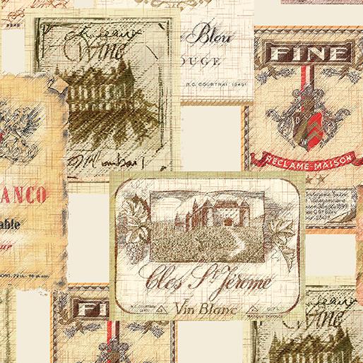 Vineyard Labels Cream