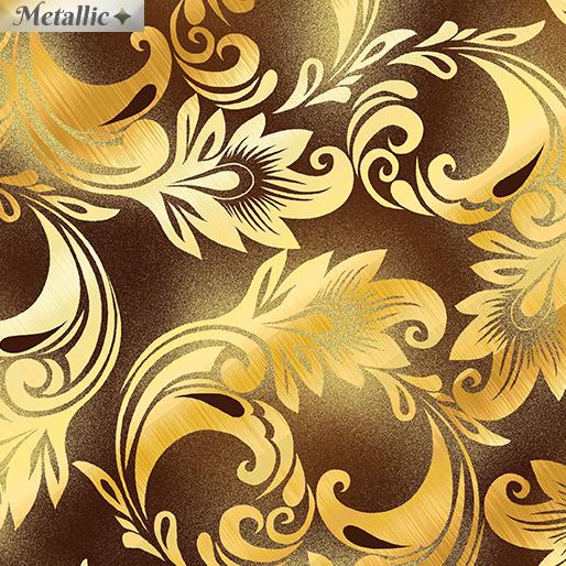 Harvest Scroll Brown/Gold