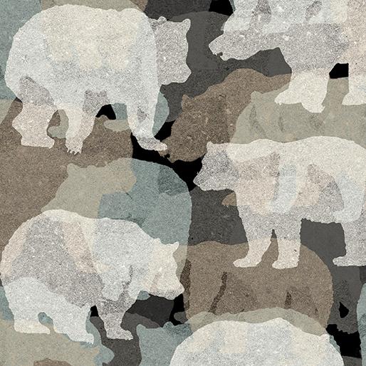BEAR COLLAGE TEAL