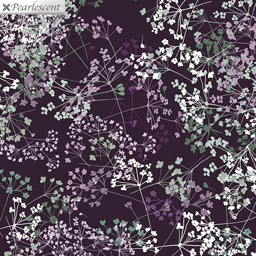 ESSENCE OF PEARL QUEEN ANNE'S LACE EGGPLANT METALLIC