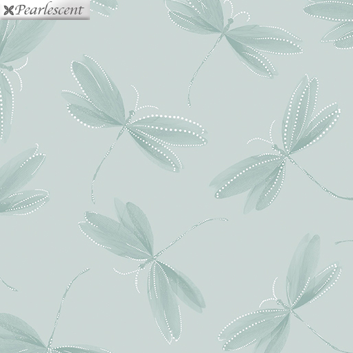 Essence of Pearl - Dragonfly Silhouette Lt.Sage