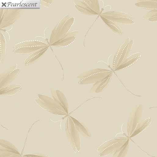 Essence of Pearl - Dragonfly Silhouette Ecru