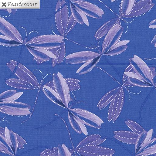 Benartex Kanvas Pearl Reflections 8732P-62Dragonfly Dream Iris