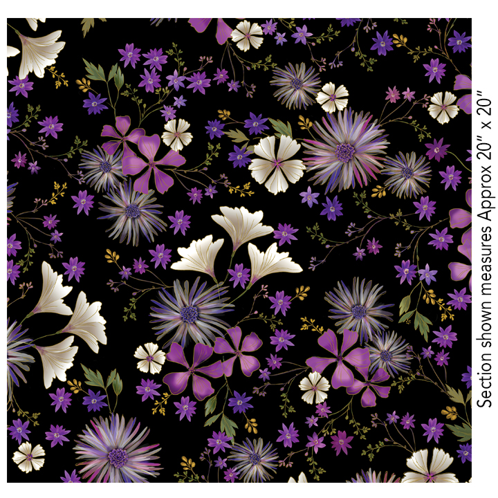 Enchanted Garden Floral Black