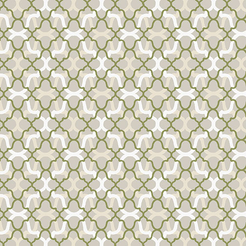 ENCHANTED FOULARD CREAM/SAGE 8831-07