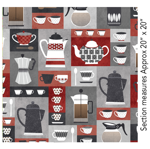 Coffee Time Boxes Red/Gray