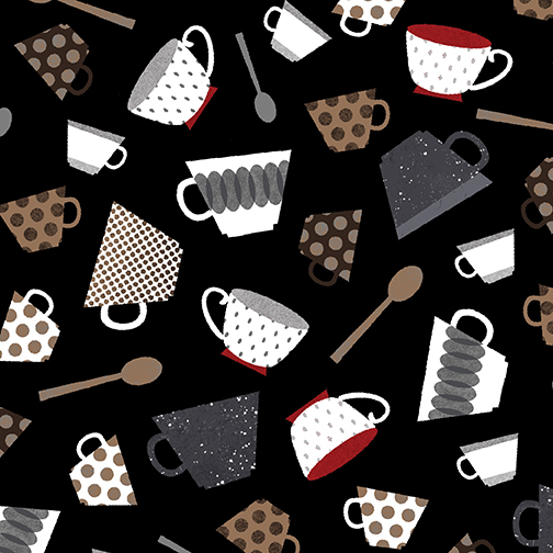 Cups & Spoons Black/Red