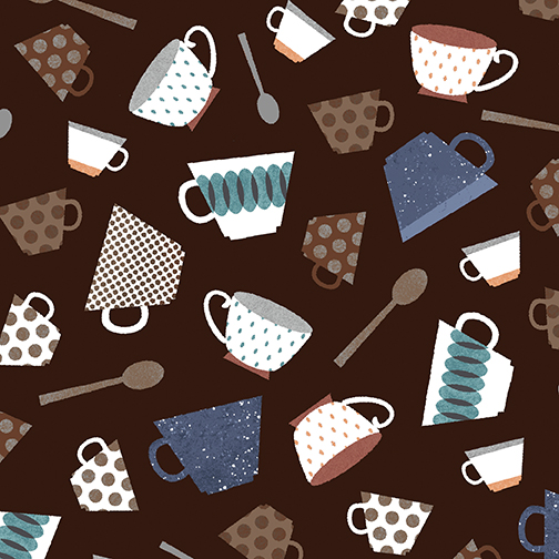 Cups & Spoons Brown