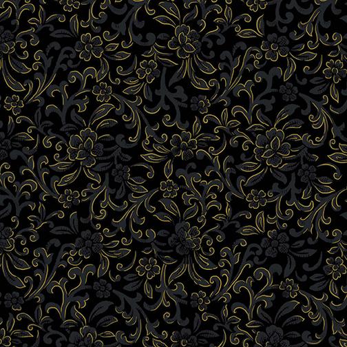 Garden Scroll Black