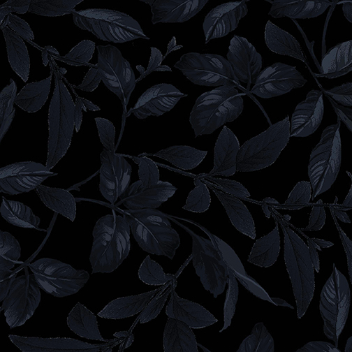 Botanical Leaves Midnight Blue