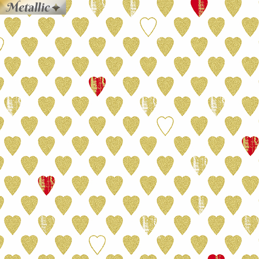 Texture Hearts White