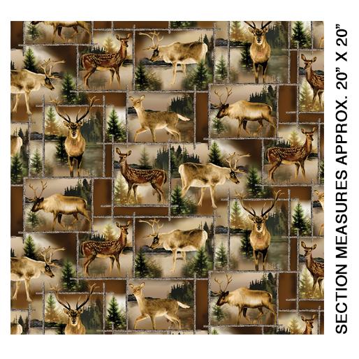 Scenic Deer Patch Brown - 8969-77
