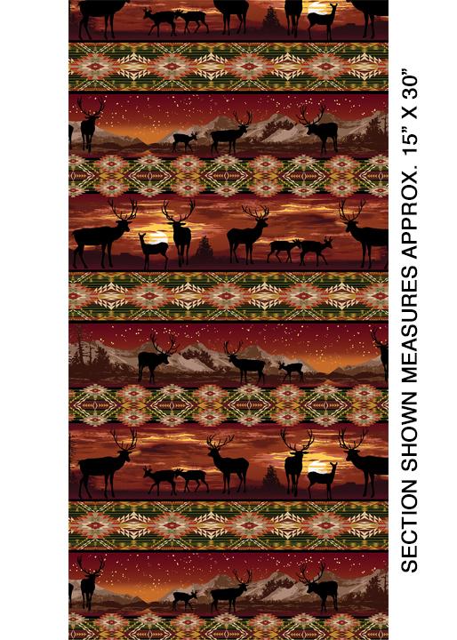 Lodge Life Stripe Russet - 8970-88