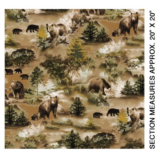 08972 77 Bear Scenic Moss Brown