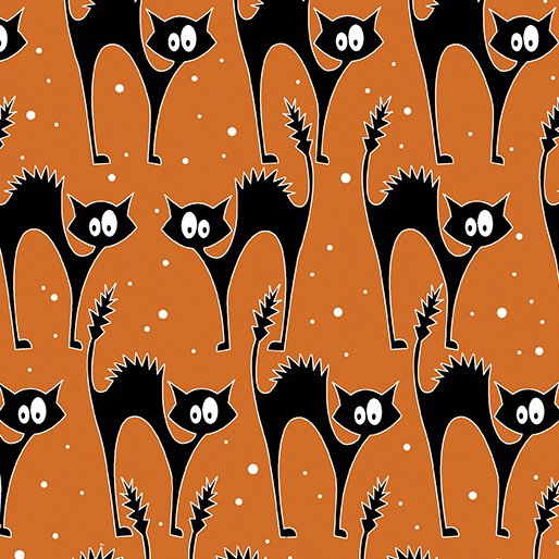 Faboolous Fun - Scaredy Glow Cats Orange