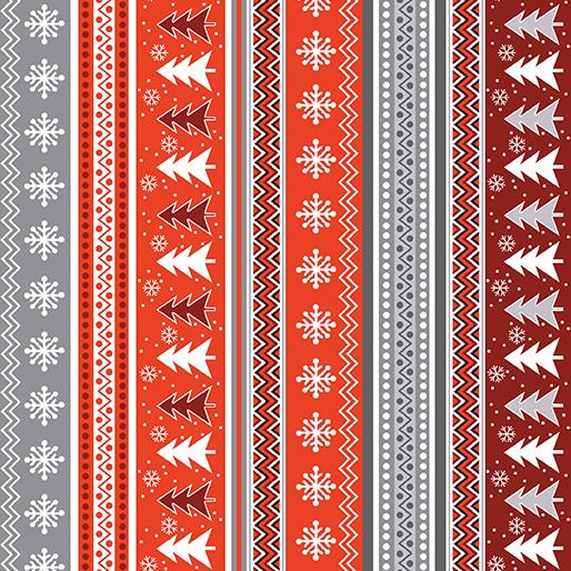 Nordic Stripe Gray/Red