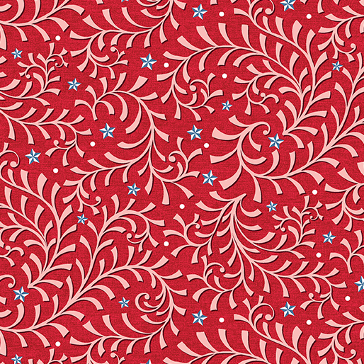 09632 10 Red Vine Celestial Lights Benartex