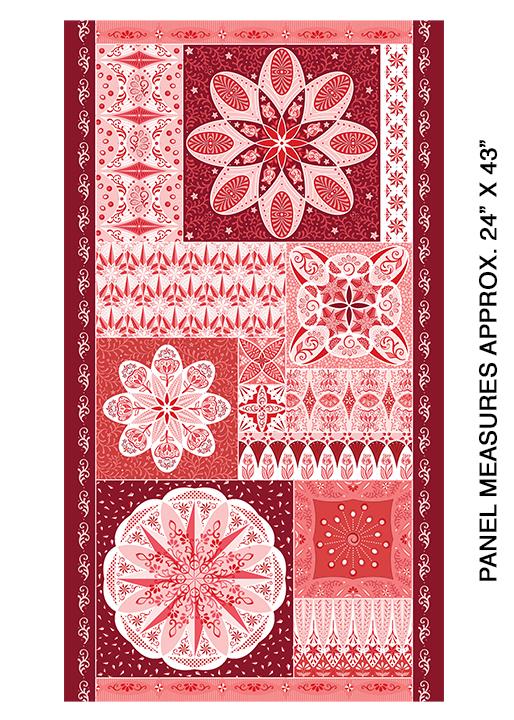 Celestial Lights - Ruler Panel - Red - 9638-10