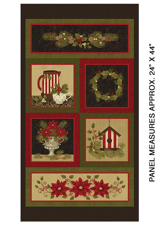 Wintergreen Holly Panel Multi