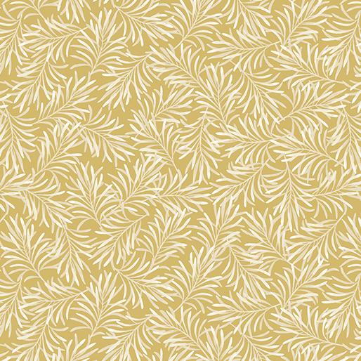 Benartex Boughs of Beauty C9661W-70 Golden Straw X-wide