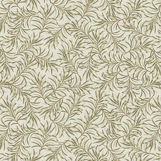 Boughs of Beauty Taupe/Green 108''
