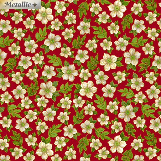 Ode to Joy 9663M-10 Flowers Red
