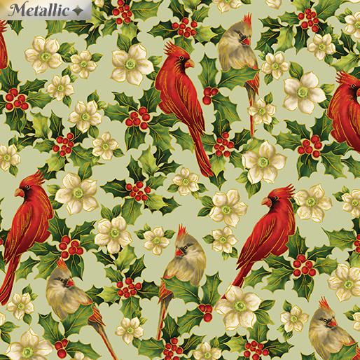 Ode to Joy 9668M-04 Elegant Cardinals Sage