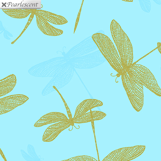 Shimmery Dragonfly Turquoise