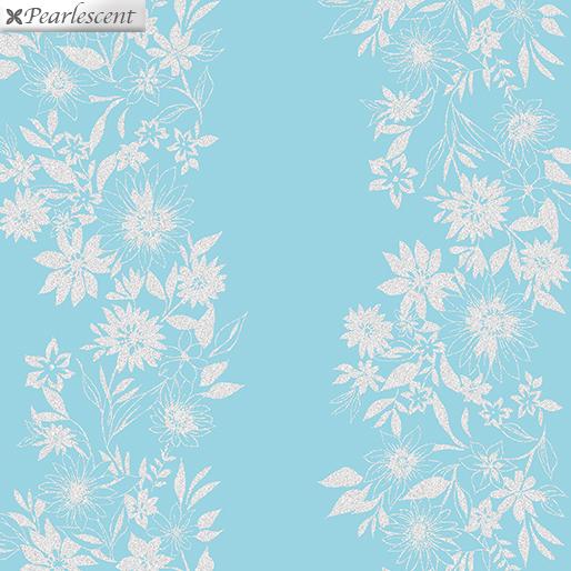 Shimmery Flower Stripe 9707P-82 Turquoise