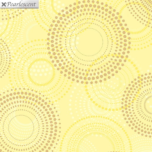 Shimmery Spirals Yellow