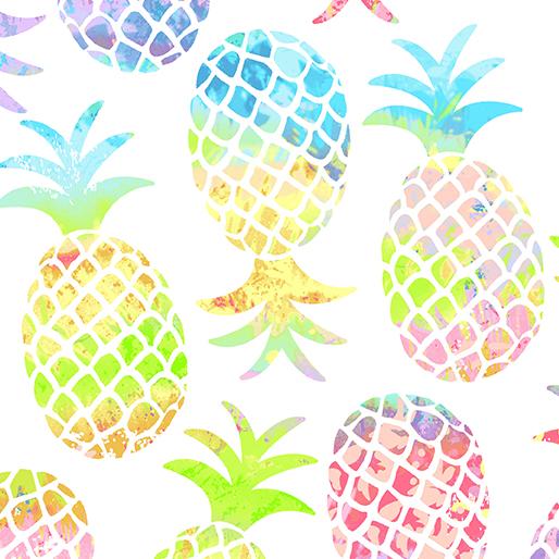 Pinapple Paradise White - Tropical Breeze