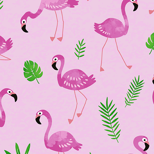 Tropical Breeze Flamingo Frenzy Pink 9718-01