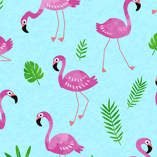 Tropical Breeze Flamingo Frenzy Turquoise
