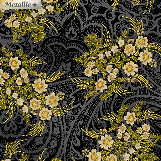 Radiant Bouquets Black