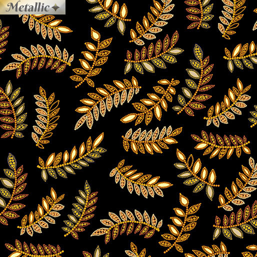 Radiant Ferns Black