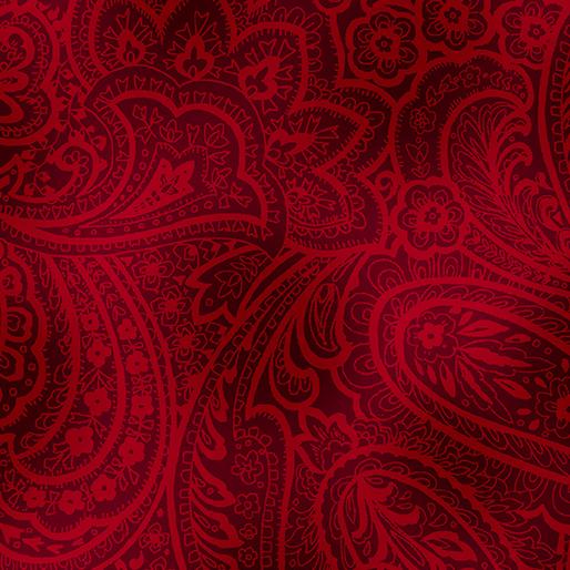 Radiant Paisley Brick Red