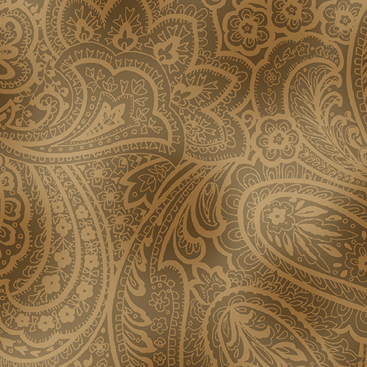Radiant Paisley Sepia