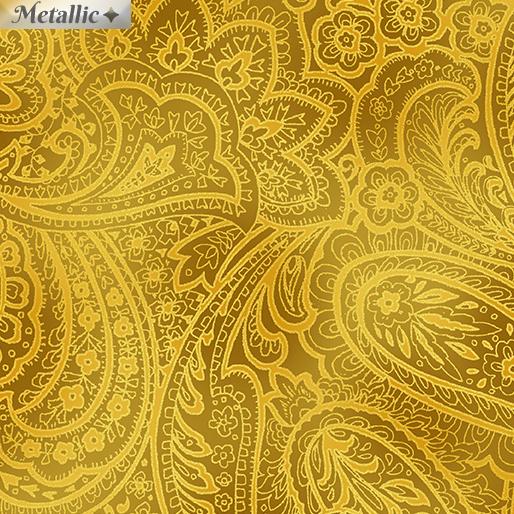 Radiant Paisley - Butternut & Gold