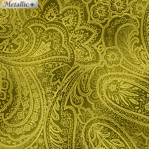 Radiant Paisley Green/Gold