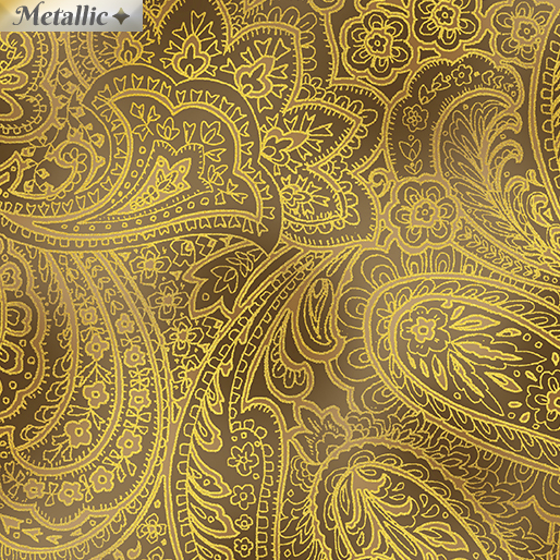 Radiant Paisley Sepia/Gold