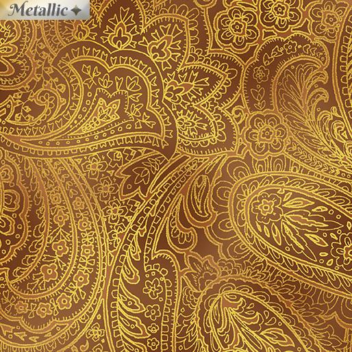Radiant Paisley - Saddle & Gold