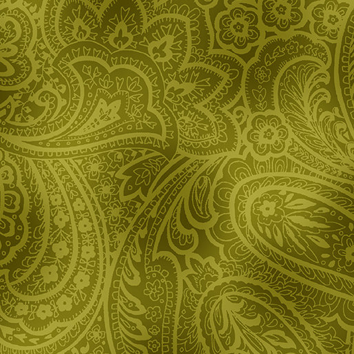 Item#13055.H - Radiant Paisley Green 108 - Kanvas by Benartex