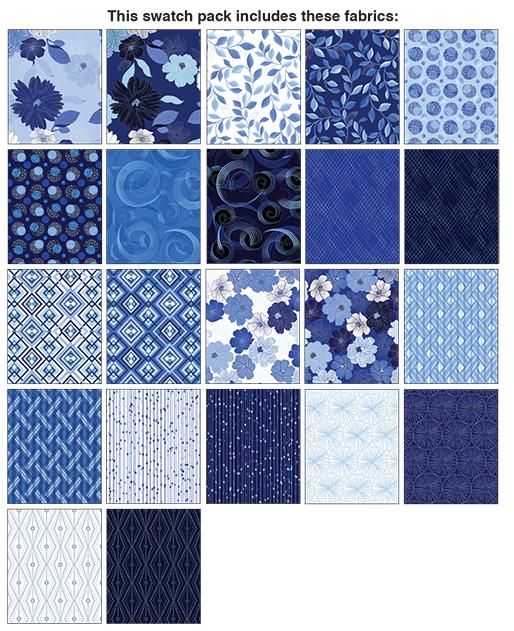 Benartex/Kanvas Blue Brilliance 10x10 Pack
