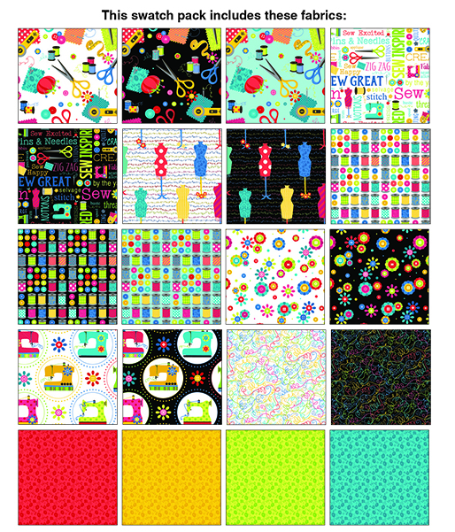 Sew Excited 10x10 Pack