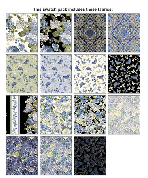 Blue Symphony FQ Bundle 14pcs