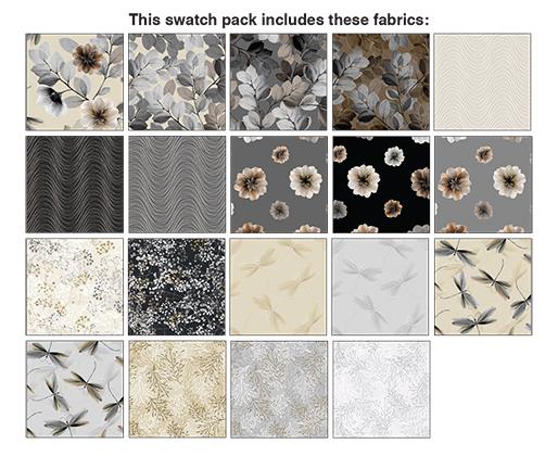 Benartex/Kanvas Essence of Pearl Neut Pinwheel 2 1/2 Strips