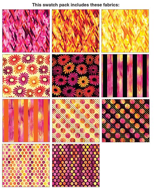 Sunburst Pink 10 x 10 square (42) Pack