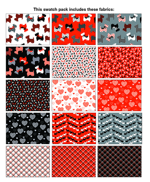 Dotty for Scottie Strip-pies (40) 2 1/2 x 42 Strips
