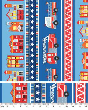 Firehouse Village Stripe Blue